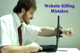 5 Biggest Website Mistakes