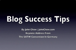 John Chow: Blog Success Tips