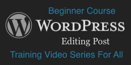 WordPress: Editing Posts