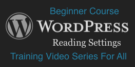 WordPress: Reading Settings