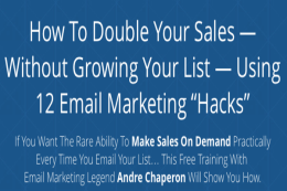 Webinar Review: Andre Chaperon - 12 Email Marketing Hacks