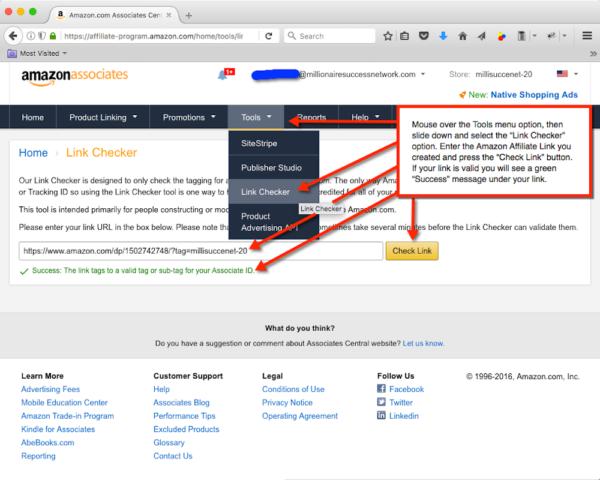 Amazon Affiliate Link Checker