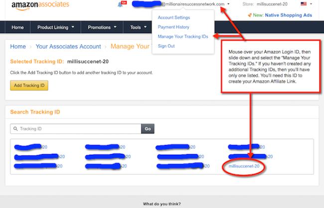 Amazon Affiliate Link Listing