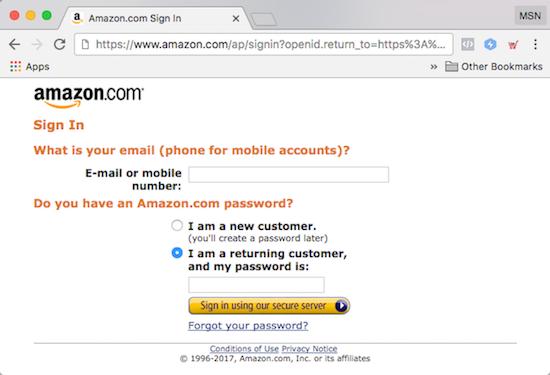 Amazon Affiliate Program Signon