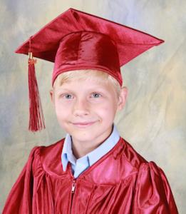 Boy Graduating Cap & Gown