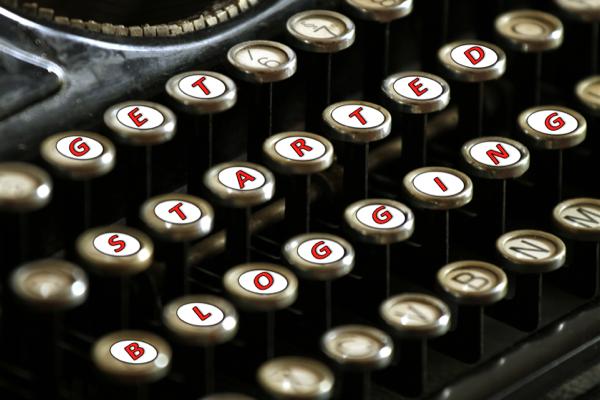 Get Started Blogging Keyboard